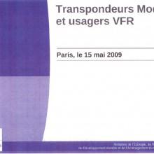 Transpondeur Mode S et usagers VFR