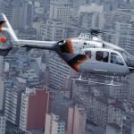 Hélicoptère en milieu urbain