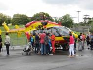 Hélicoptère de la Sécurité Civile sur l'Héliport de Paris