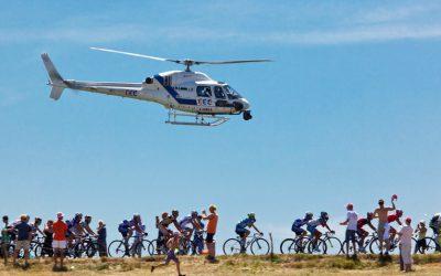 Les hélicoptères, partenaires des grands événements sportifs de l'été